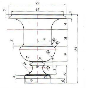 Progetto vaso con misure